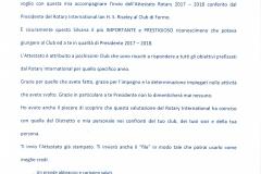 Attestato presidenziale 2017-2018 - lettera accompagnamento