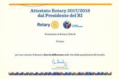 Attestato presidenziale 2017-2018
