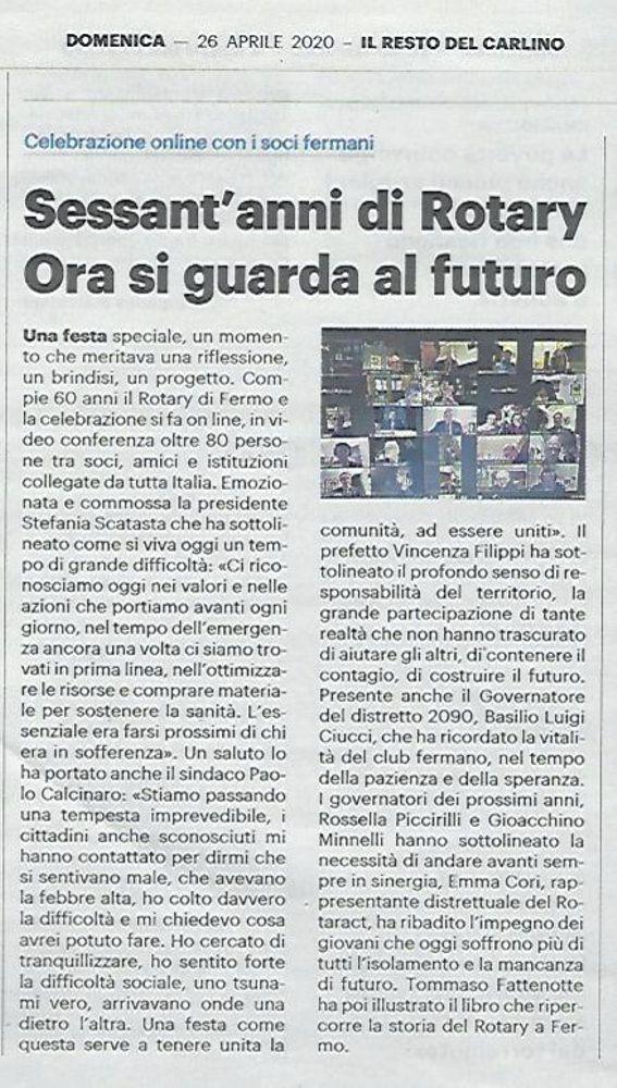 60° del Club - 2020-04-26 - Il Resto del Carlino - 200