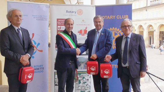 Fermo PAD - consegna defibrillatori