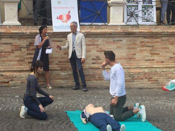Fermo PAD - prova pratica defibrillatore