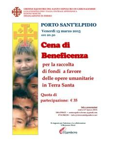 Ordine Equestre Santo Sepolcro - cena beneficenza