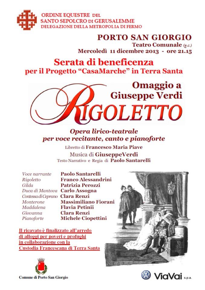 Ordine Equestre del Santo Sepolcro - Rigoletto