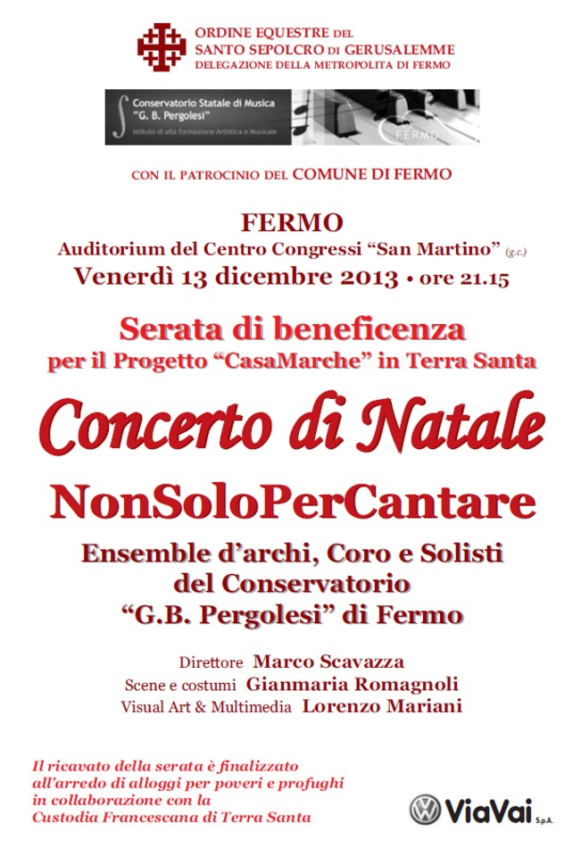 Ordine Equestre del Santo Sepolcro _ Concerto di Natale