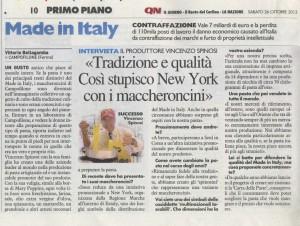 Spinosi - Il resto del Carlino - 26.10.2013