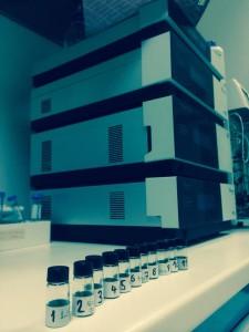 TC3 - campioni di olio che la dottoressa di ricerca ha portato con sé per analizzare l'impronta digitale molecolare dei loro aromi