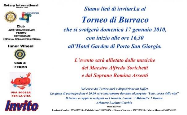 Torneo di burraco intreclub - 17.01.2009