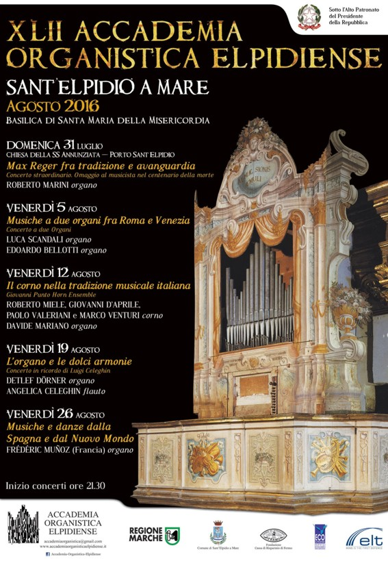 XLII Accademia Organistica 2016 LOCANDINA